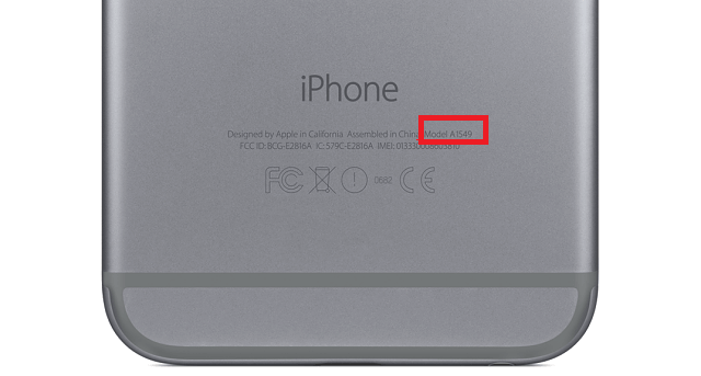 apple iphone model identification number